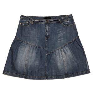 Venezia Flared Denim Skirt